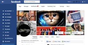 Плоский дизайн facebook