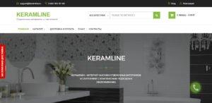 Интернет-магазин KeramLine - главная страница