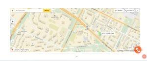 Сайт-визитка страница с картой