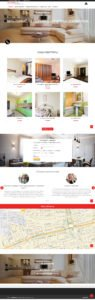 Создание сайта-визитки квартиры посуточно