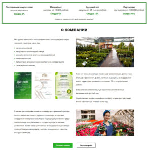 Landing page секция 3